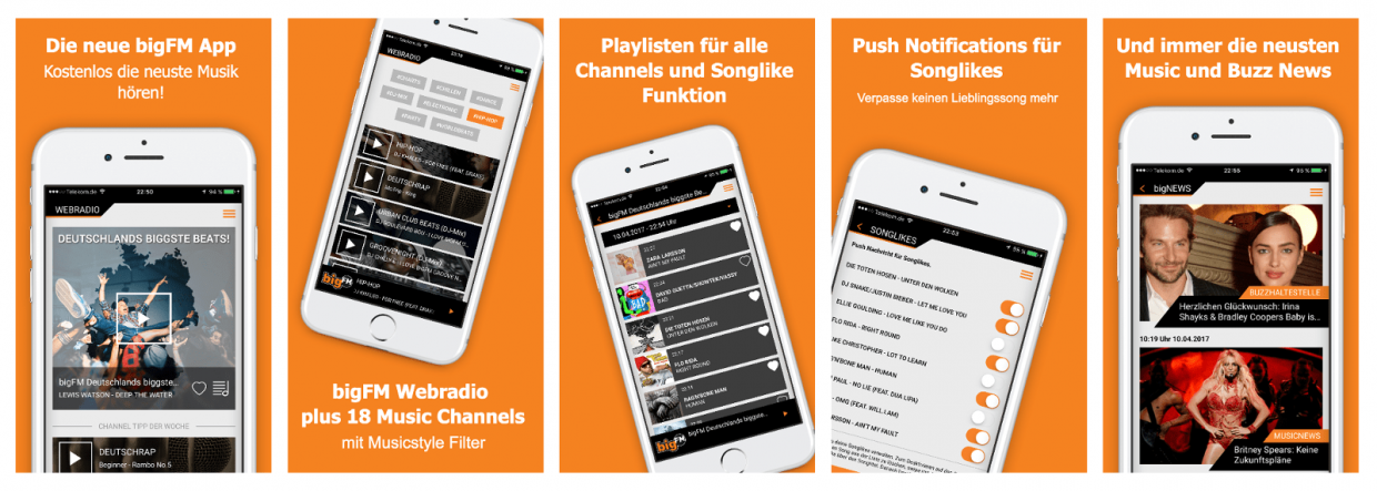 die neue bigfm app jetzt kostenlos downloaden bigfm. Black Bedroom Furniture Sets. Home Design Ideas