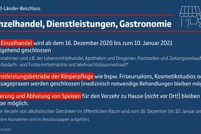 Beschlussvorlage 13. Dezember 2020