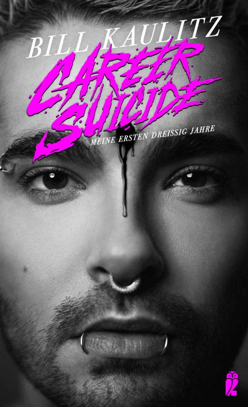 "Bill Kaulitz' Buchcover zu ""Career Suicide"""