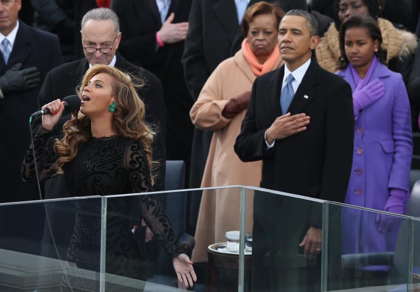 Beyoncé bei Barack Obamas Amtseinführung
