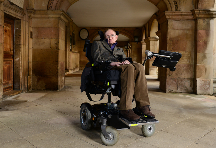 Wohl der berühmteste ALs-Erkrankte, Stephen Hawking