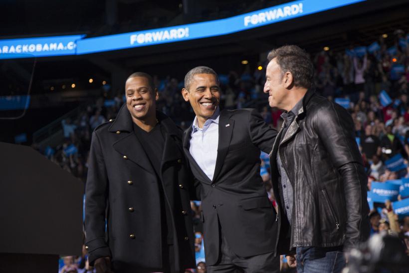 Barack Obama mit Jay-Z und Bruce Springsteen