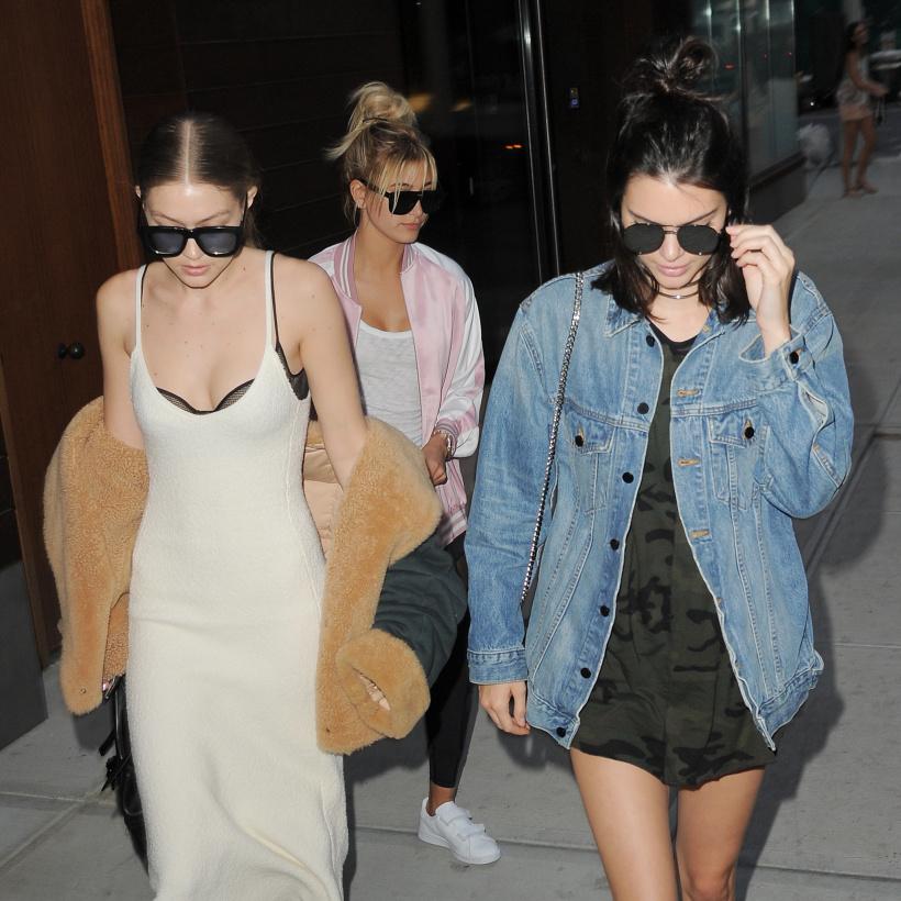 Hailey Bieber, Kendall Jenner, Gigi Hadid nach einem Restaurantbesuch