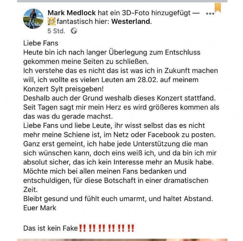 Mark Medlock: Er verkündet sein Karriere-Aus!