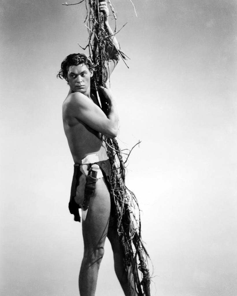 Der fünffache Olympiasieger Johnny Weißmüller in seiner Rolle als Tarzan