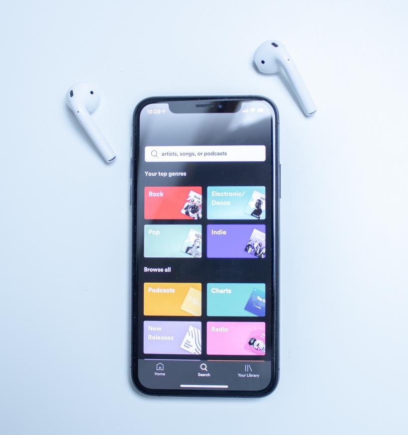 Spotify Streaming App auf dem Smartphone